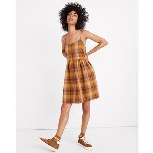 Madewell Madras Spice Plaid Babydoll Cami Dress S